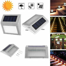 3 LED Solar Stair Powered Light Outdoor Courtyard Nightlight Pathway Wall Lamps