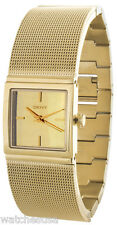 DKNY Women's Mirror Dial Steel Mesh Gold-Tone Watch NY2113