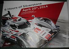 Le Mans 2014 FIA WEC - Official Audi R18 Silverstone Commemorative Large Poster