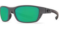 Costa Del Mar Whitetip Sunglasses WTP 98 Grey / Green Mirror 580P Polarized