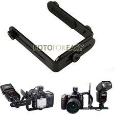 Dual-L Universal Adjustable Flash Bracket For Canon Nikon Speedlite DSLR Cameras