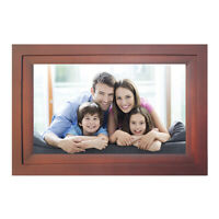 """iDeaPLAY 10.1"""" Wi-Fi Digital Photo Frame Wood Picture Album with iOS Android App"""