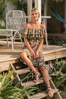 Summer Women Sexy Off Shoulder Flower Boho Dress Casual Chiffon Beach Dresses