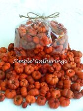 Pumpkin Pods ORANGE MIX 2 Cups Putka Crafts Autumn Bowl Fillers Primitive Fall