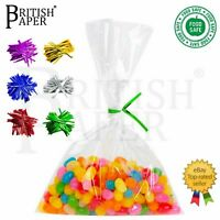CLEAR CELLOPHANE FOOD SWEET GIFT CELLO BAGS SMALL LARGE CANDY COOKIE TREAT PARTY