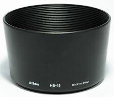 ORIGINAL GENUINE NIKON HB-15 BAYONET LENS HOOD for 70-300mm f/4.0-5.6 ED D-AF
