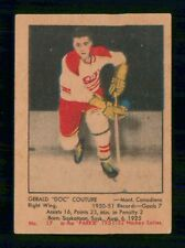 GERALD COUTURE RC 1951-52 PARKHURST 51-52 NO 17 VG  29895