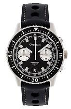 Gigandet Mens Quartz Watch Speed Timer Chronograph Analog Leather Strap Black