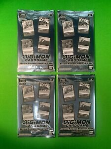 x4 Digimon Card Game Factory Sealed Special Release Memorial Pack English x4