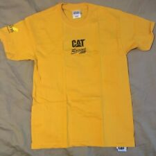 Caterpillar Top Fuel Dragster Racing Yellow Adult Small Shirt Collectible
