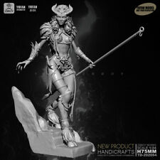 1/24 Figure Hell king white mold Female Warrior Unassembled scale 75mm model