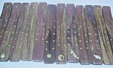 "Wholesale Set of 12 x 10"" Wooden Incense Burners Ashcatchers Great Gifts (Dozen)"