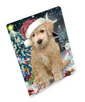 Have a Holly Jolly Goldendoodle Dog Christmas Cutting Board C59205