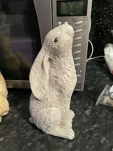 Moon Gazing Hare Rubber latex Mould mold Wiccan Pagan Fairy Garden Rabbit