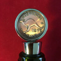 50th Birthday Gift Anniversary Present 1970 Australian Penny Wine Stopper