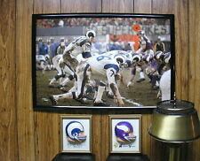 12x18 Rams Vikings 1969 NFL PLAYOFF GAME Roman Gabriel Photo Poster Snow