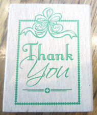 Greenbriar Intl. Thank You Framed Decorative Classic Wooden Rubber Stamp