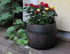 Pflanztopf 64x59 cm Holzoptik Blumenkasten Blumentopf Blumenkübel Kunststoff