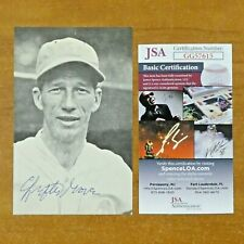 Lefty Grove Baseball HOF Signed Postcard with JSA COA