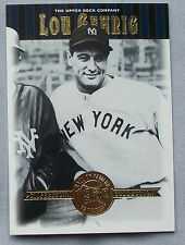 2001 Upper Deck Cooperstown Collection Hall of Famer Lou Gehrig Yankees