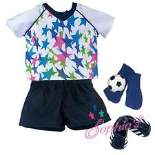 "Soccer Star Uniform Jersey Shorts ball fit 18"" American Girl Doll futbol"