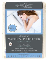 "MATTRESS COVER ZIPPERED DEEP POCKET 16"" SOFT LUXURIOUS FABRIC 4 DIFFERENT SIZES"