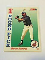 1992 Score Baseball Rookie Card #800 - Manny Ramirez RC - Cleveland Indians