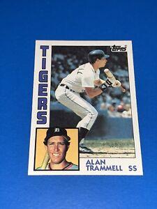 1984 TOPPS ALAN TRAMMELL Baseball Card #510 Detroit Tigers Set Break NM-MINT