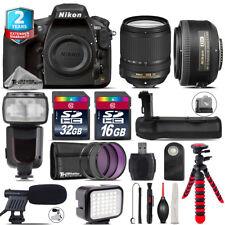 Nikon D810 DSLR + AFS 18-140mm VR + 35mm f/1.8 + LED Kit + Pro Flash + 48GB