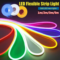 Outdoor Lighting Colorful Silicone Tube LED Strip Waterproof Neon Light US
