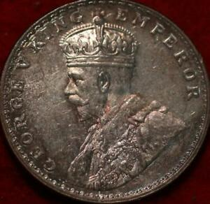 1921 India 1 Rupee Silver Foreign Coin