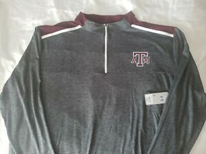 Colosseum Athletics Men's Size 3XL Maroon and Gray Texas A&M 1/4 Zip Pullover