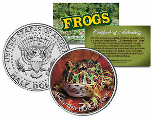 ARGENTINE HORNED FROG *Collectible Frogs* JFK Kennedy Half Dollar US Coin w/COA