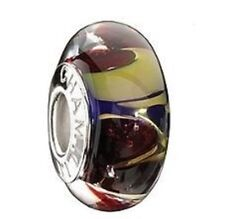 "Authentic Chamilia Element Silber ""Paradise Gold"" Murano Glass Bead 2116-0074"