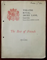 Best Of Friends by Cecil Raleigh, Theatre Royal Drury Lane Programme 1902