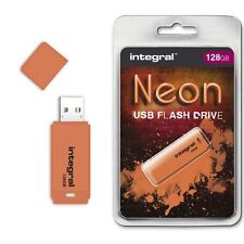 INTEGRAL 128gb Neón unidad flash USB en naranja, un dispositivo Galardonado show