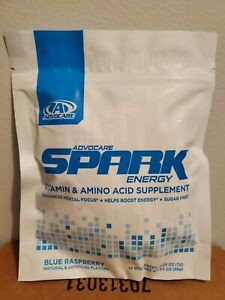 Advocare Spark Stick Packs - 14 count Blue Raspberry  - Free Shipping