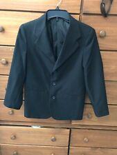 Boys young men's black suit jacket pants dressy by Retro sz 14 reg.