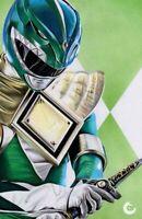 MIGHTY MORPHIN POWER RANGERS #50 CHRIS CLARKE GREEN RANGER LTD 300 NM