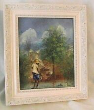 Framed Painting Wilder St Louis Haitian Haiti Artist Landscape Fishing Native