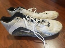Peter Boulware NFL Game Used Autographed Worn Nike Cleats Baltimore Ravens