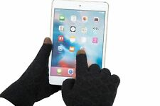 Gloves Black Winter Touchscreen Text Thick Warm Knitted Drive Outdoor Unisex