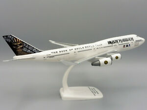 Boeing 747-400 ED FORCE ONE 1/250 Herpa Snap Fit 613293 IRON MAIDEN BOOK OF SOUL