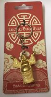 Lucky Buddha Keyring - Buddhism Key Gift Present Mum Friend Faith Spiritual