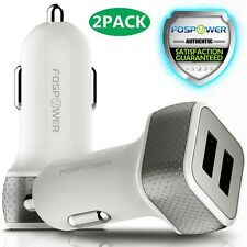 2x Dual Port USB Fast Car Charger 24W WizCharge LED iPhone X 8 Samsung Galaxy S9