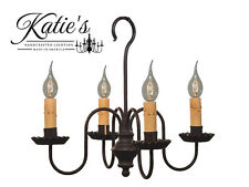 Peppermill Chandelier - Katie's Handcrafted Lighting - Primitive Colonial - NEW!