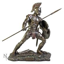 Achilleus Greek Warrior Vintage Statue Ornament Figurine Decor Ancient Sculpture