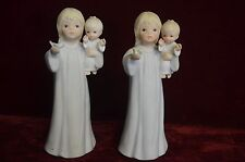 "set of 2 Vintage Mother & Child The Lord is the Light Lefton Figurine 7.5"" tall"