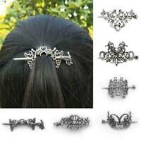 Vintage Norse Stick Slide Hairpins Celtics Knots Hair Elegant Clip Women P0I3