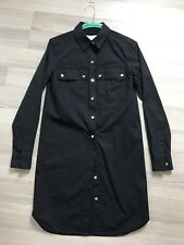 MICHAEL KORS BLACK CLASSIC SHIRT DRESS GOLD LOGO BUTTONS SIZE XS, UK 6, 36IT